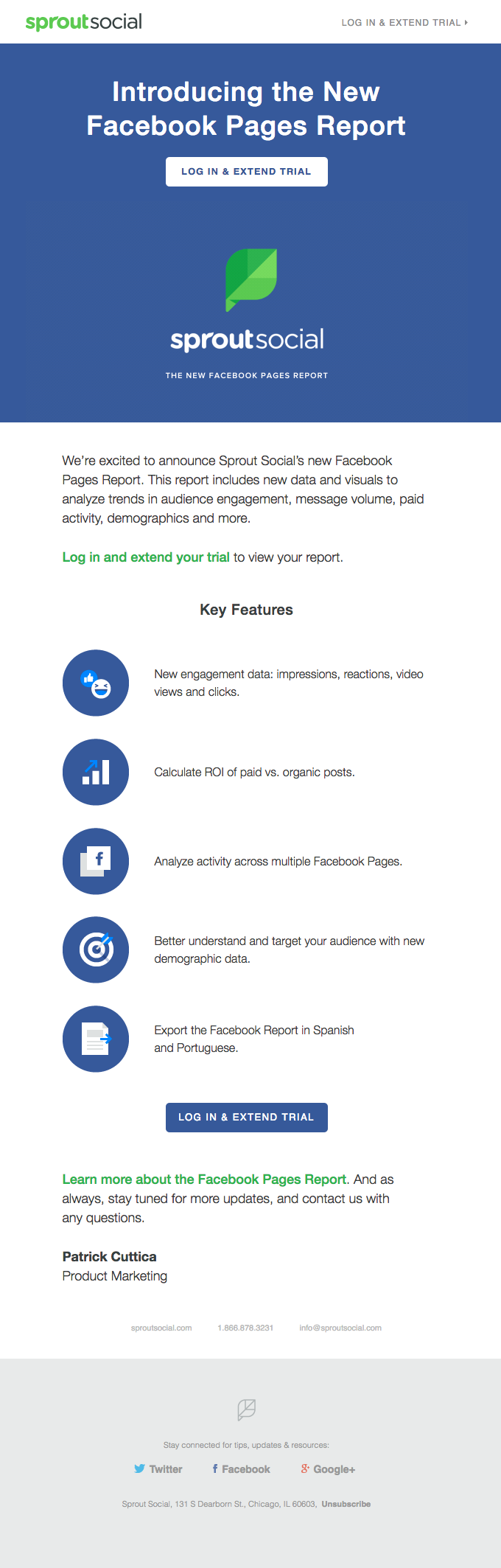 Sprout Social Email lead nurturing example